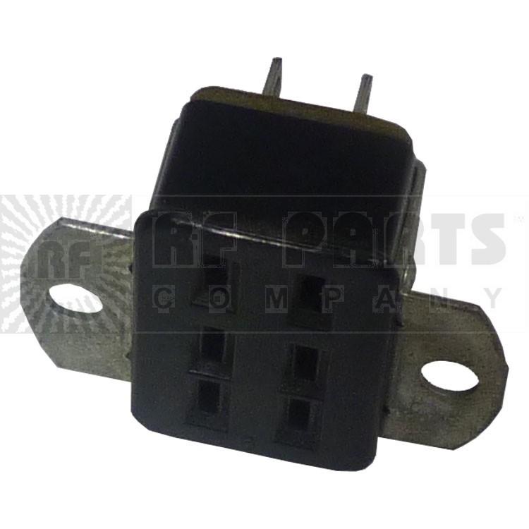 S306AB  6 Pin Cinch Connector Socket w/Angle Brackets  (Jones)