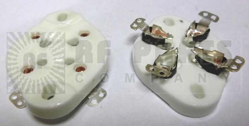SK4A Tube socket, flat ceramic, 4 pin. 811a,812,572b,866a,80