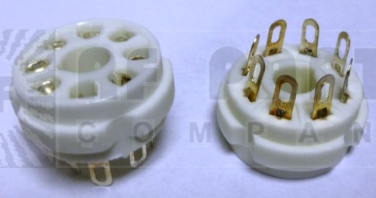 SK8  Tube socket, Ceramic, 8 pin for 6146B, etc, w/Bracket