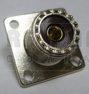 83-1R-B UHF Female 4 Hole Flange Chassis Mount Connector, Solder Cup (SO239), APL/RF