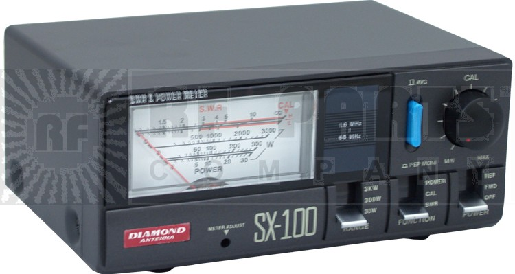 SX100 Wattmeter, 1.6-60 MHz, 3000 Watt, Diamond Antenna