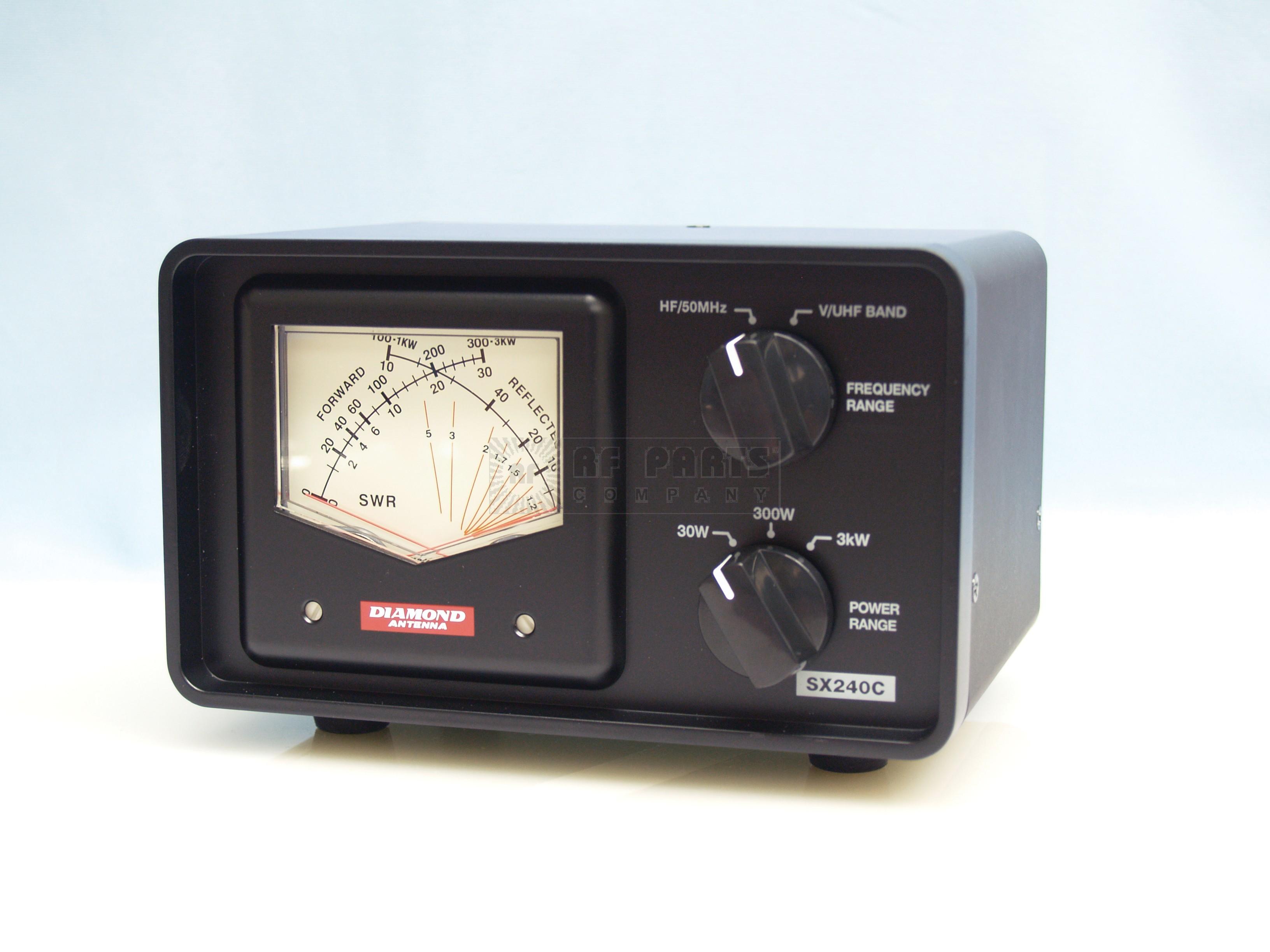 SX240C Wattmeter, cross needle, 1.8-54mhz 140-470mhz, 30/300/3kw power, DIAMOND