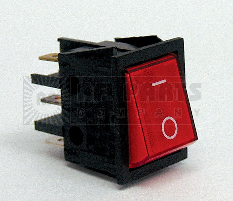 T105-2WI-XII Switch, DPST(4P) RED on/off