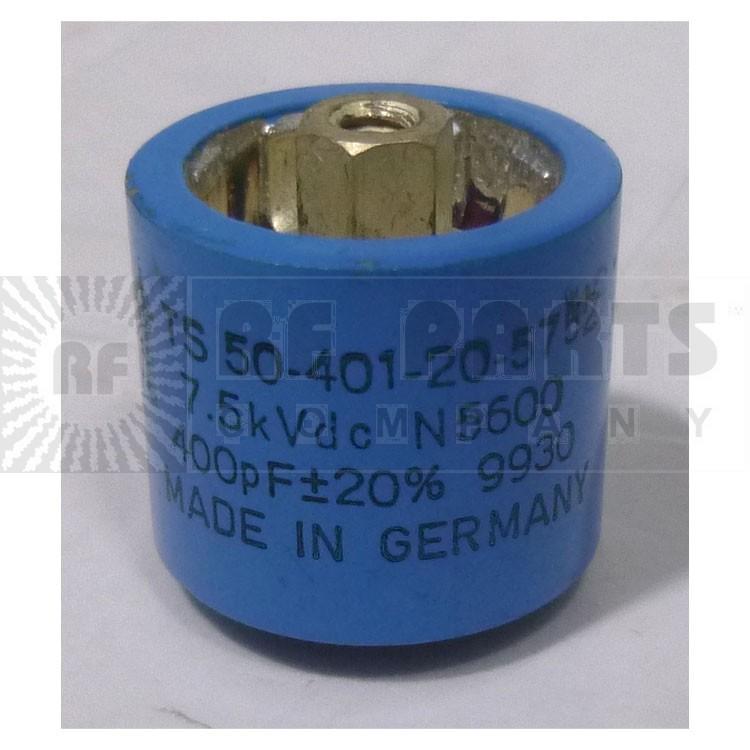 TS50-401-20-5752 Doorknob Capacitor, 400pf 7.5kv 20%