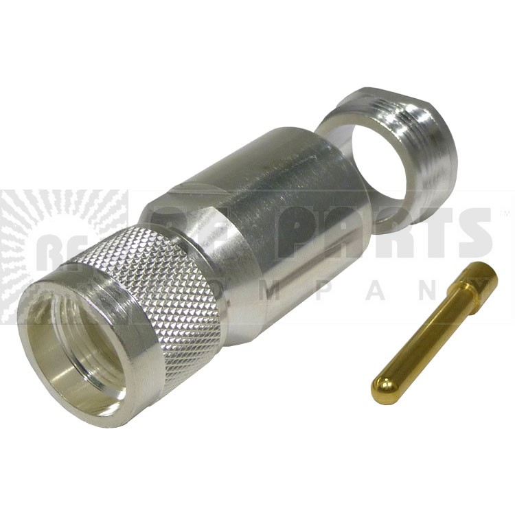 TC600UMC UHF Male Clamp Connector, (PL259) LMR600 knurled nut, Solder pin, Times