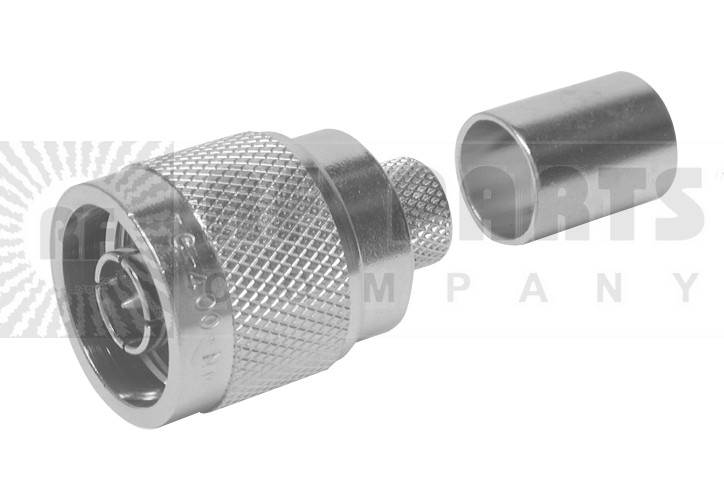 TC400NM-75 Connector, type-n(m) crimp, Lmr400-75 knurled nut, TIMES