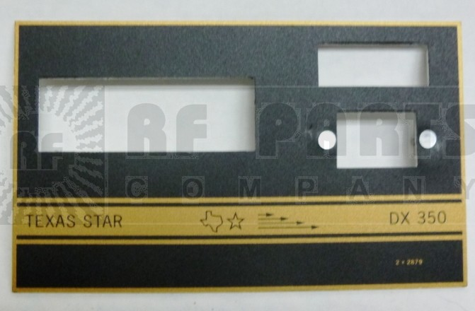 TEXFACE350  Replacement FacePlate DX350