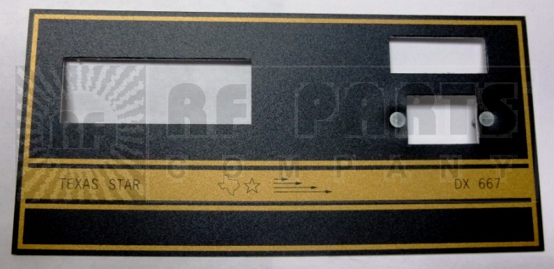 TEXFACE667  Replacement Faceplate DX667, Texas Star