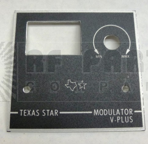 TEXFACEVPLUS  Replacement faceplate V-PLUS, Texas Star