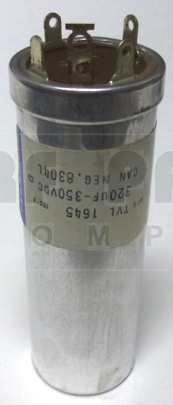 TVL1645 Capacitor 320 uf 350v can, Sprague