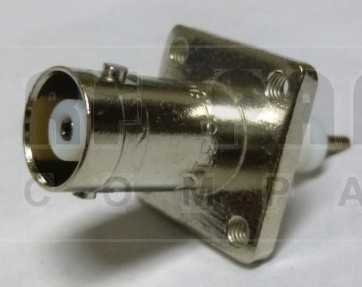 UG931/U  BNC Female 4 hole Chassis Connector, Amphenol