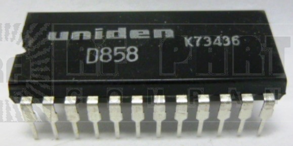 UPD858 Pll/audio IC, Uniden