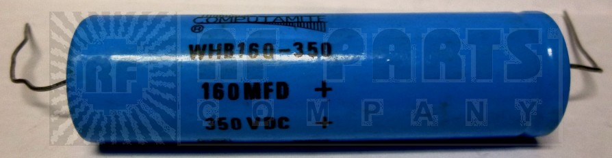 WHB160-350  Electrolytic Capacitor, 160 uf 350v axial, Computamite/CDE