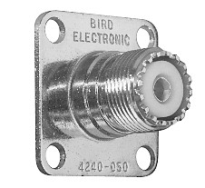 4240-050 UHF Female QC connectors, Bird 43