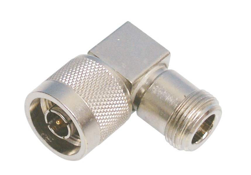 50896 Adapter, Right Angle Type-N Male to Female