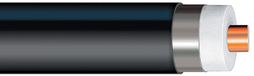 "FXL1873 - Heliax Flexible Coaxial Cable, smoothwall aluminum, 1-5/8"", black PE jacket"