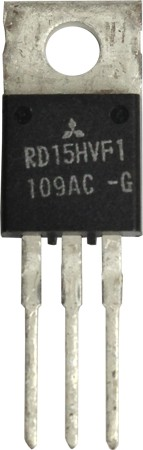 RD15HVF1  Transistor, 15 watt, 175 MHz, 12.5v, Mitsubishi