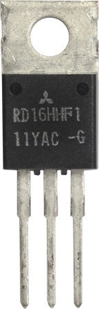 RD16HHF1 Transistor, 16 watt, 30 MHz, 12.5v, Mitsubishi