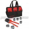 CRIMPBAG  -  Powerpole Crimping Tool KIT for 15, 30 and 45 amp contacts, Handle and Die Combination Set