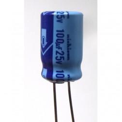 100-25 Capacitor , 100 uf 25v, Nichicon