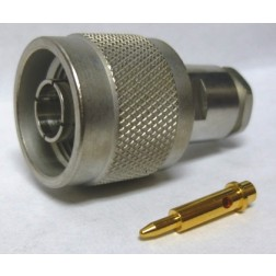 11N-50-3-5/133NE Type-N Male Clamp Connector, Cable Group C, RG58, LMR195UF, Huber Suhner (Motorola) 2800852527