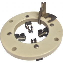 122-234 Socket, special, 4 pin, Flat ceramic .Mfgr: johnson