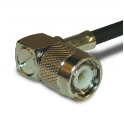 122140 TNC Male Crimp Connector, Right Angle, Knurled Nut, APL/CON