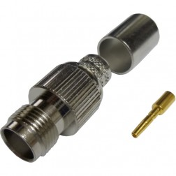 122392 - TNC Female Crimp Connector, Straight, APL,CON