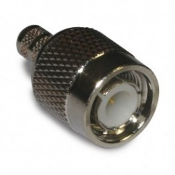 122408 - TNC Male Crimp Connector,  Straight, Knurled Nut, APL/CON