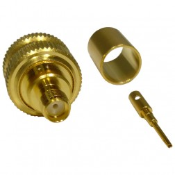 132332 SMA Female Crimp Connector, Straight, APL/CON