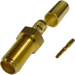 132116 - SMA Female Bulkhead Crimp Connector