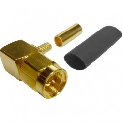 132123 - SMA Male Right Angle Crimp Connector, APL/CON