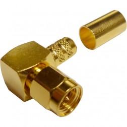 132239 - SMA Male Right Angle Crimp Connector, APL/CON