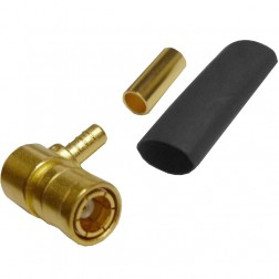 142194 - SMB Male Right Angle Crimp Connector, AMP/CON