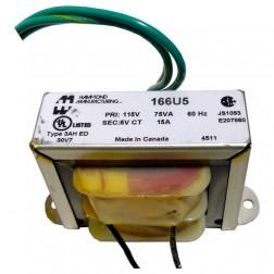 166U5 - Transformer 5v-ct at 15a