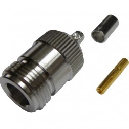 172103 - Type N Female Crimp Connector, Straight, APL/CON