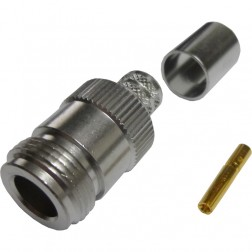 172105 - Type N female Crimp Connector, Straight, Amphenol/Connex