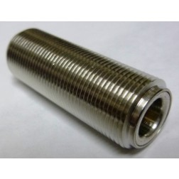 172123-10 Type-N IN Series Adapter, Female to Female Barrel, 1.75 inch long, full thread, APL/CON