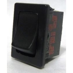 1801-P  Rocker Switch, SPST, 6a 250vac (Plain-no lettering)