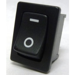 1801-W Rocker Switch, SPST, 6a 250vac (White Lettering)