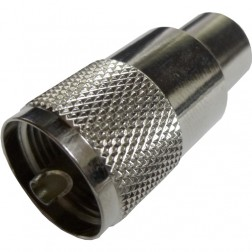 182106 - UHF Male (PL-259) Solder Type Connector, Straight, Knurled Nut, APL/CON