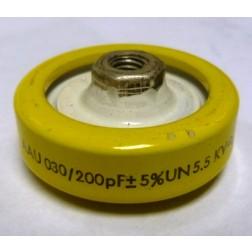 200-5.5 Doorknob Capacitor, 200pf 5.5kv, LCC