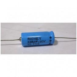 220-16 Capacitor, elec. 220uf 16v, Axial richey