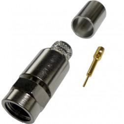 222166 -  Type-F Male Crimp Connector, LMR 400,(50ohm), Amphenol