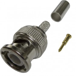 225395-2 - 75 Ohm BNC Male Crimp Connector, Straight,  Amp