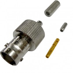 31-244 - BNC Female Crimp Connector, Straight, APL/RF