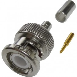 M23329/3-01  BNC Male Crimp Connector, Amphenol/RF (Military Grade)