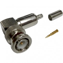 31-335-RFX - BNC Male Crimp Connector,  Right Angle, APL/RFI