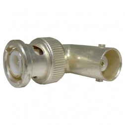 31-9-S BNC In-Series Adapter, Right Angle Male to Female, Silver (Industrial Grade), UG306/U, APL