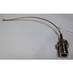 316NF-10  10in RG316 Cable Assembly with Type-N Female Bulkhead on one side
